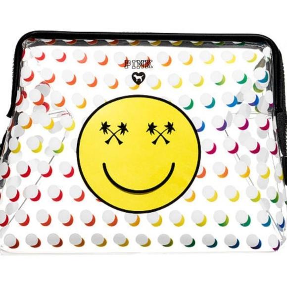 Victoria's Secret Handbags - Victoria's Secret LARGE Emoji Face Bag Pouch